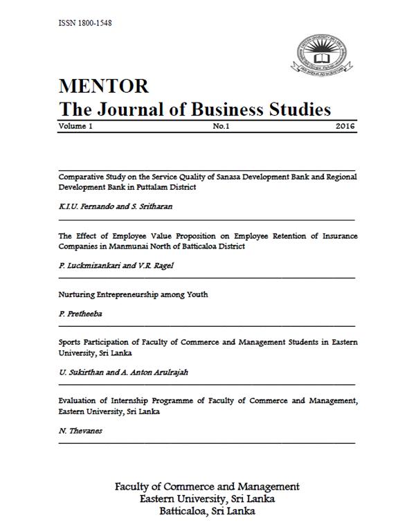 Mentor   The Journal of Business Studies-JBS